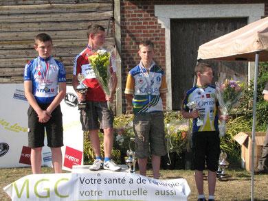 Louis Maloigne à COULLEMELLE le 3 Juillet / Championnat Somme Minime