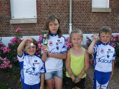 Adèle, Angèle, Antonin Maloigne à SOYENCOURT le 2 Juillet