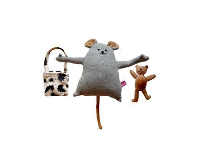 Maus mit Teddy