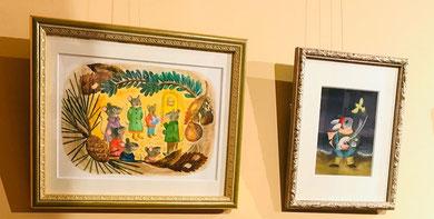 伊藤夏紀 20の小鳥 20の祈り 展示作品