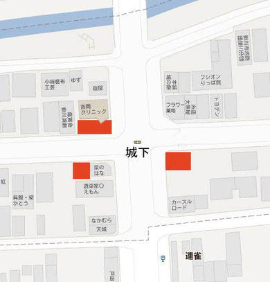 駐車場は下図の赤い場所にあります。