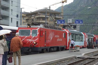"""unser"" Zug wird bereitgestellt"