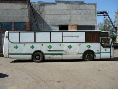 """Подобных автобусов было сделано всего 4 штуки. Все они изначально предназначались для доставки запчастей. На момент съемки """"на ходу"""" оставалась только эта машина"""