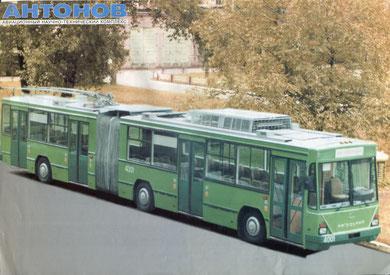 Информационная листовка по модельному ряду троллейбусов Авиант K12