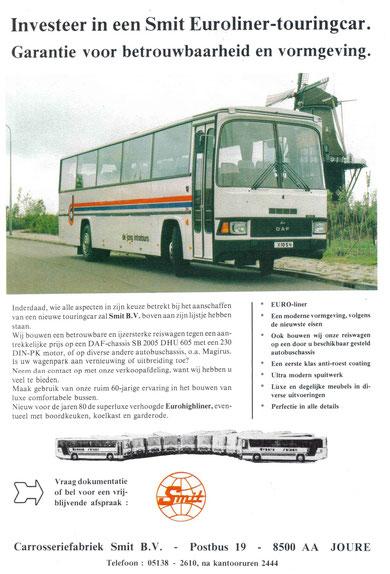 Информационная листовка по автобусу DAF Smit Euroliner на шасси DAF SB 2005