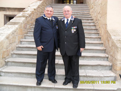 2011 - Bruno (Presidente Gruppo ANMI di Lecce) e Marsili (Presidente Gruppo ANMI di Ginosa)