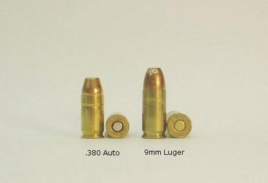 Vergleich 9mm kurz - 9mm Para