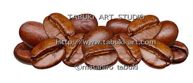 コーヒー豆と果実のイラスト