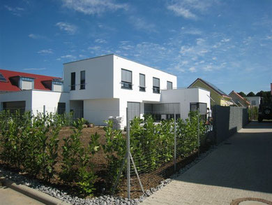 Neubau EFH in Schwäbisch Hall/Mittelhöhe - Wärmedämmverbundsystem, Innen- und Außenputz, Fassadenanstrich