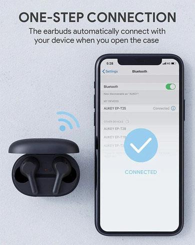 Aukey EP-T25 (connectivité)