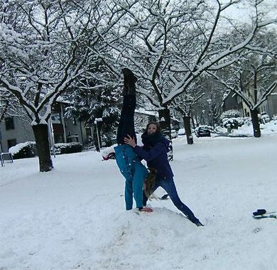 Neele und Pisi im Schnee