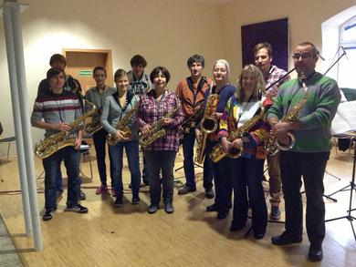 Das Saxophonensemble Kandel am Probetag