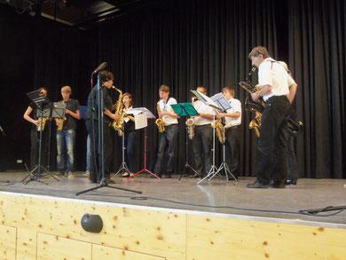 Auftritt des Saxophonensembles Kandel
