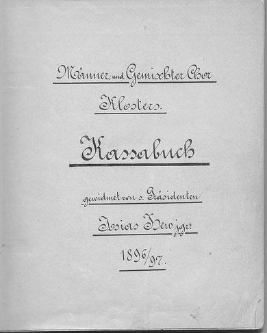 Kassabuch als Dokument