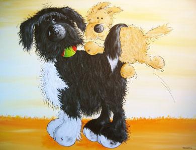 anderARTiges Hundeportrait, Wunschbild, Hundetiere