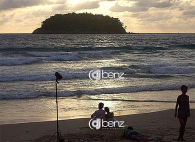 Promi-Hochzeit Beach Fotoshooting