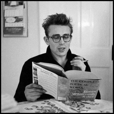 James Dean leyendo - leer es sexy