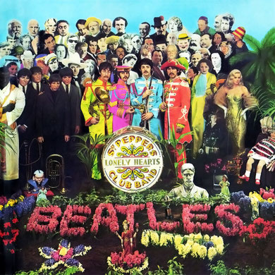 Portada del disco Sgt Peppers Lonely Hearts Club Band, de The Beatles, confeccionada por Peter Blake