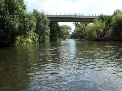 Ruhr im Bereich der Röhrmündung (Neheim Hüsten)