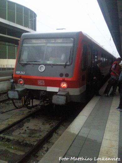 BR 628/928 Als RE5 Stralsund - Neustrelitz Unterwegs / Hier Ist Der zug Grade Im Bahnhof Stralusnd Hbf Angekommen