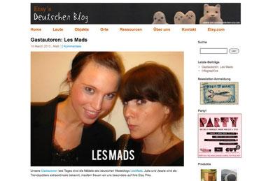 Screenshot: www.etsy.de/blog