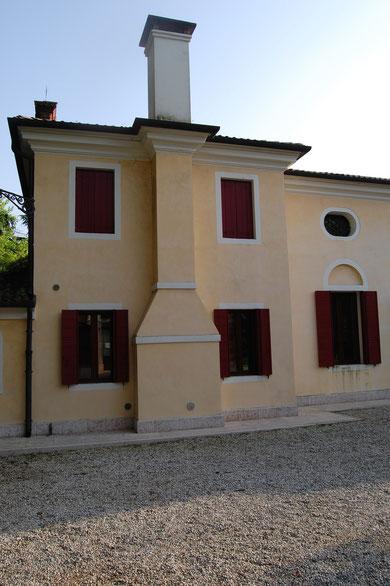 Villa Valeri - Rückansicht - Gartenfront