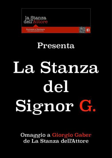 La Stanza del Signor G. - Omaggio di musiche e parole a Giorgio Gaber