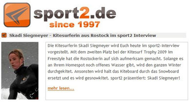 Interview auf Sport2.de
