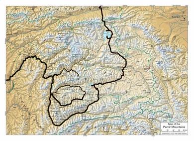 unsere Route durch Tajikistan