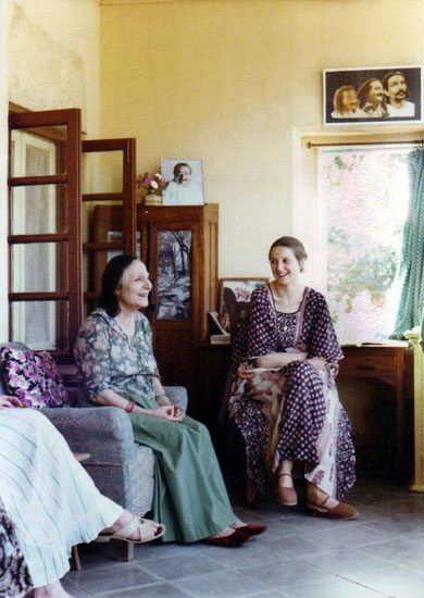 Susan with Mehera Irani at Meherazad