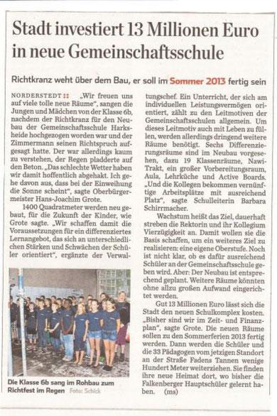 Zeitungs Artikel des Hamburger Abendblattes