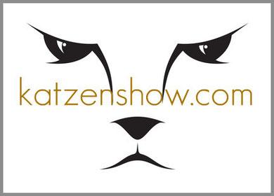 Logo von www.katzenshow.com, Katzen kostenlos mit Foto im Internet ausstellen