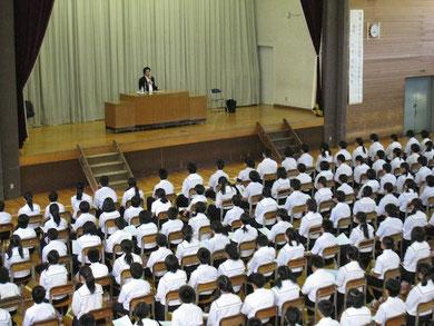 福島市立蓬萊中学校教育講演会