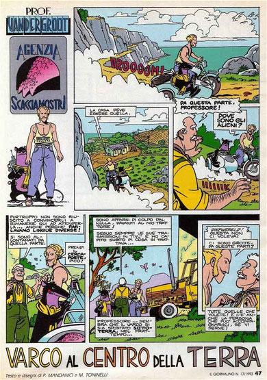 """Tavola dal fumetto di Toninelli """"Agenzia Scacciamostri"""" (matite mie) - """"Il Giornalino"""" 1993"""