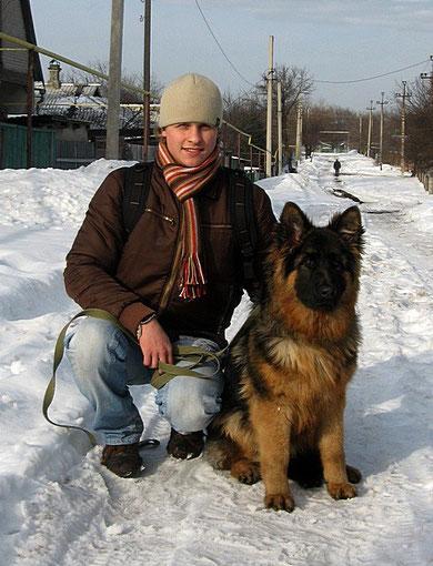 Андрей с Диктатурой фон Нордэн,7 мес.