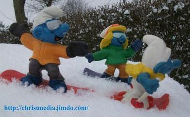 Schtroumpfs au sport d'hiver