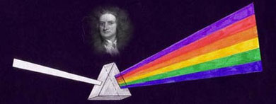 Isaac Newton, la luz es color