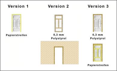 schematischer Bau von Türen