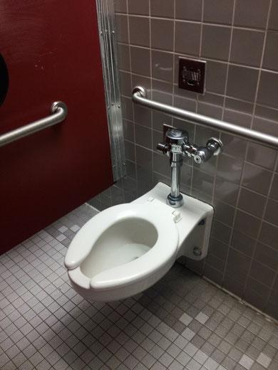 Um mal eins hier klar zu stellen! Klos in Amerika sind so viel sauberer! Zumindest auf meiner High School! Also Mädels, was die können, können wir schon lange oder? Sorry, ich war aufm Behinderten Klo.. Deswegen diese ganzen Stangen, die gibts sonst nicht
