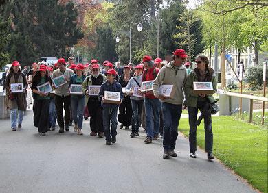 Übergabe der Petitionen in Bern