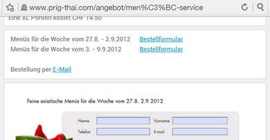 neuer E-Mail Link für Bestellungen per E-Mail