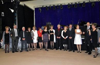 Les membres d'Academ et du Comité de jumelage