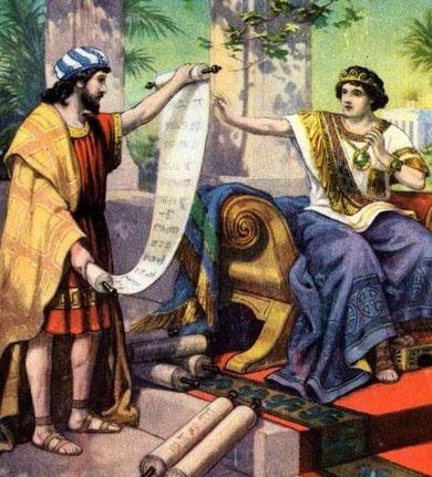 Safán lee las Escrituras al Rey Josías