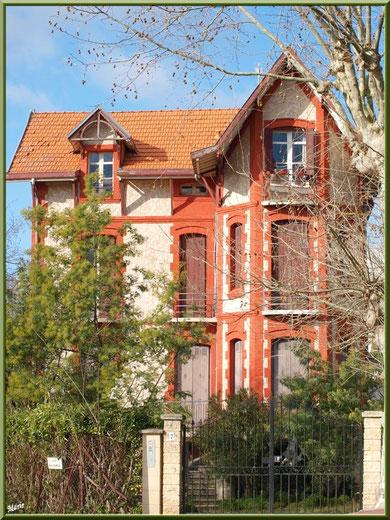 La villa Diane devenue Navarra en Ville d'Hiver à Arcachon