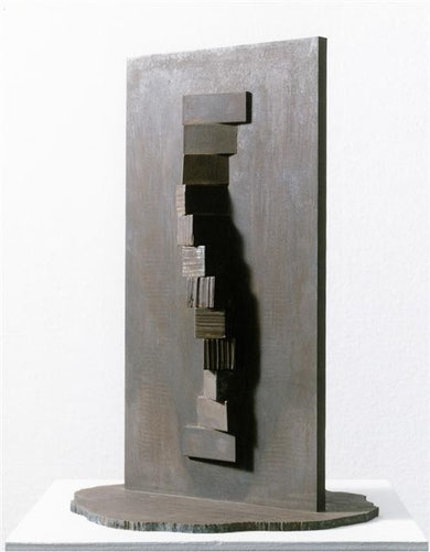 Fire Marking  1x12 (East-West) <No.F-07>  / 1991 / cor-ten steel / H.50x25x20cm