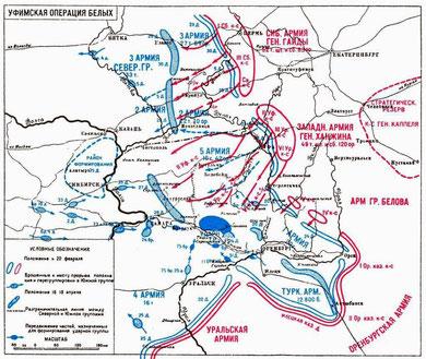 Уфимская операция белых  (февраль- апрель 1919г.)