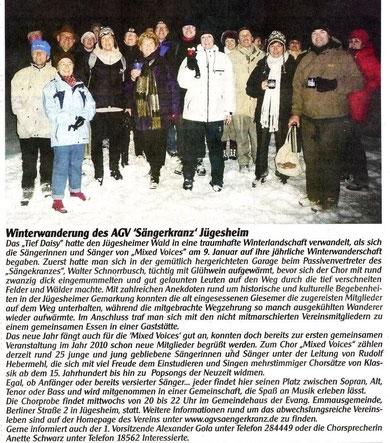 09.01.2010 - Winterwanderung