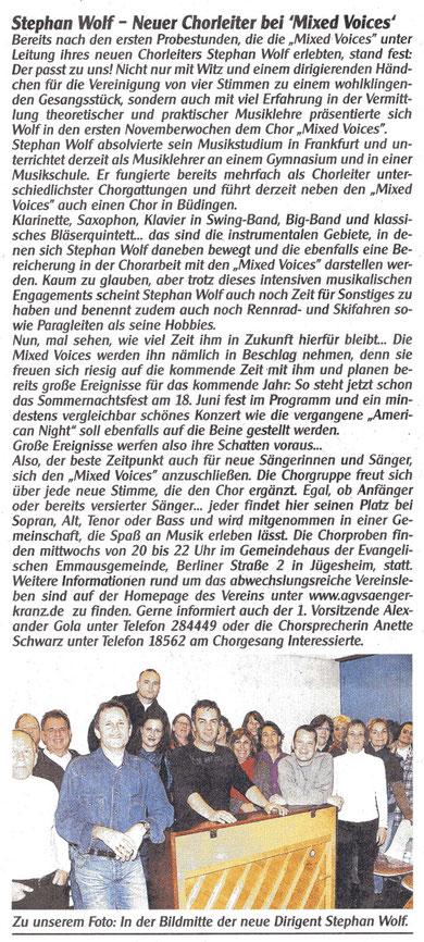 Stephan Wolf - neuer Chorleiter