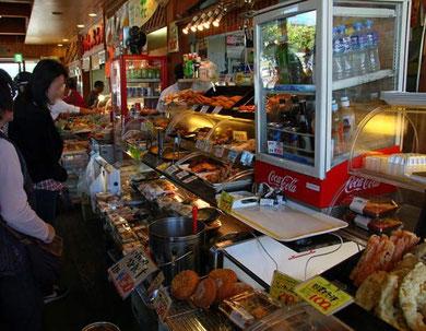 富楽里の食材店 地元産の食材が多い