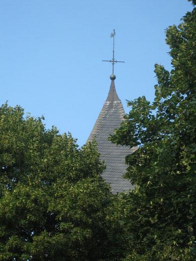 Turmspitze der Evangelischen Kirche Flierich